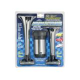 Wolo (403) Air Max Chrome Plated Trumpet Horns - 12 Volt, High and Low Tone