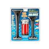 Wolo (402) Air Max Black Plastic Trumpet Horns - 12 Volt, High and Low Tone