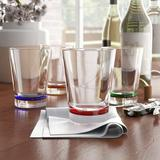 Ivy Bronx Funchess 8-Piece 16 oz. Plastic Drinking Glass Set Plastic, Size 4.5 H x 3.74 W in | Wayfair IVBX2541 42386519
