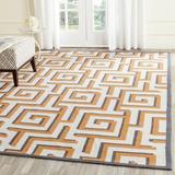 Ivy Bronx Runner Naya Geometric Handmade Ivory/Rug Polyester in Brown, Size 42.0 W x 0.38 D in | Wayfair IVBX1323 41147704