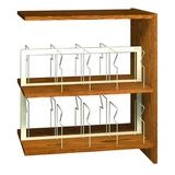 "Ironwood Glacier 40.88"" H x 36"" W Standard Bookcase Wood/Metal in Brown, Size 40.88 H x 36.0 W x 24.0 D in   Wayfair PBS42DAOC"
