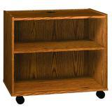 "Ironwood Glacier 31.5"" H x 35.625"" Standard Bookcase Wood in Brown/Green, Size 31.5 H x 35.625 W x 19.625 D in   Wayfair LPCDO"