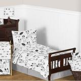 Sweet Jojo Designs Fox 5 Piece Toddler Bedding SetPolyester in Black   Wayfair Fox-BK-WH-Tod