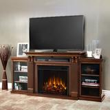Real Flame Calie TV Stand w/ Electric Fireplace Included Wood in Brown, Size 30.5 H in   Wayfair 7720E-DE