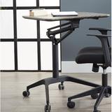 "Haaken Furniture Ergonomic Adjustable Laptop Cart, Metal in Gray, Size 41""H X 27""W X 19""D | Wayfair 201-GREY"
