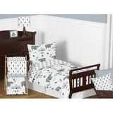 Sweet Jojo Designs Bear Mountain 5 Piece Toddler Bedding Set Polyester in Black/Blue/White | Wayfair BearMountain-Tod