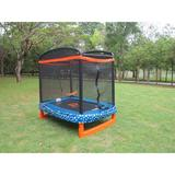 Bounce Master Trampoline 6' Rectangle Trampoline w/ Safety Enclosure in Blue | Wayfair JP07-R01-72