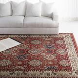 Lauren Ralph Lauren Camille Red/Beige Area Rug Polypropylene in Red/White, Size 108.0 W x 0.39 D in | Wayfair LRL1255C-9