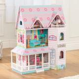 KidKraft Abbey Manor Dollhouse Manufactured Wood in Brown/Pink, Size 28.25 H x 22.85 W x 12.9 D in | Wayfair 65941