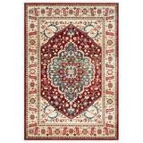Lauren Ralph Lauren Chloe Beige/Red Area Rug Polypropylene in Brown/Red/White, Size 61.0 W x 0.39 D in   Wayfair LRL1221B-5