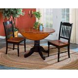Laurel Foundry Modern Farmhouse® Shelburne 3 - Piece Drop Leaf Dining SetWood in Black/Brown, Size 30.0 H in | Wayfair