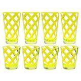 Latitude Run® Glenorie 8 Piece Acrylic Assorted Glassware Set Plastic in Green   Wayfair LDER6363 42975639