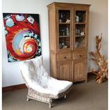 Loon Peak® Pellerin Standard China Cabinet Wood in Brown, Size 85.0 H x 43.0 W x 19.0 D in | Wayfair EDFECB42631D4825964DA499E348C040