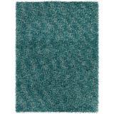 Latitude Run® Stickland Textured Shag Blue Area Rug Wool in Blue/Brown, Size 120.0 H x 84.0 W x 2.0 D in | Wayfair LDER7042 43124548