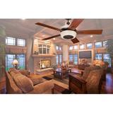 """Loon Peak® 62"""" Romona 5 - Blade Standard Ceiling Fan w/ Light Kit Included in Brown, Size 17.0 W x 17.0 D in   Wayfair LOPK7206 43305234"""