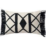 Loloi Rugs Indoor/Outdoor Geometric Lumbar Pillow Polyester/Polyfill/Polyester/Polyester blend in White, Size 13.0 H x 21.0 W x 4.0 D in | Wayfair