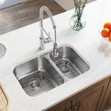 "MR Direct 28"" L x 18"" W Double Basin Undermount Kitchen Sink Stainless Steel in Gray, Size 7.75 H x 27.5 W x 18.0 D in   Wayfair 530L-18"