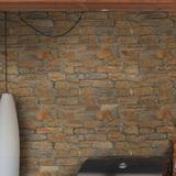 MSI Canyon Creek Veneer Random Sized Natural Stone Splitface Tile in GrayNatural Stone in Brown/Gray/White, Size 1.5 D in   Wayfair LVENQCANCRE