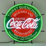 Neonetics Coca-Cola Neon Neon Sign in Red, Size 24.0 H x 24.0 W x 4.0 D in | Wayfair 5CCGRN