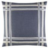 Nautica Fairwater Applique Square Cotton Pillow Cover & Insert Polyester/Polyfill/Cotton in Blue, Size 18.0 H x 18.0 W x 1.0 D in | Wayfair 220091