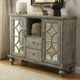 """One Allium Way® Pulcova 48"""" Wide 2 Drawer Sideboard Wood in Brown/Gray/Green, Size 37.0 H x 48.0 W x 15.0 D in 