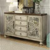 One Allium Way® Pugh Sideboard Wood in Brown/Gray/White, Size 38.0 H x 60.0 W x 15.0 D in | Wayfair 00969439D9AA43B496F891C963C303DC