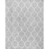 Pasargad Paris Geometric Hand-Knotted Area Rug Cotton in Gray, Size 120.0 H x 96.0 W x 0.25 D in | Wayfair PPSR-17071 8x10