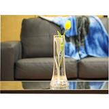 "Qualia Glass Calla Lily 10"" VaseGlass in White, Size 10.0 H x 3.75 W x 3.75 D in   Wayfair Q401404"