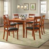 Red Barrel Studio® Amiyr 7 Piece Dining Set Wood/Upholstered Chairs in Brown, Size 30.0 H in | Wayfair RDBA2943 44371087