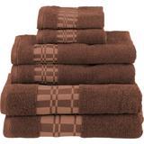 Red Barrel Studio® Mikira 6 Piece 100% Cotton Towel Set 100% Cotton in Brown, Size 1.0 H x 30.0 W x 52.0 D in   Wayfair RDBT6345 42690816