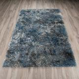 Trent Austin Design® Chew Stoke Abstract Shag Creekside Area Rug Polyester/Polypropylene, Size 61.0 H x 39.0 W x 2.0 D in   Wayfair