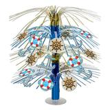The Beistle Company Nautical Cascade Paper Disposable Centerpiece Paper in Blue | Wayfair 57366