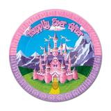 """The Beistle Company Princess Paper Dessert Plate Paper in Blue/Pink, Size 9"""" H x 9"""" W   Wayfair 58001"""