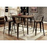 Trent Austin Design® Reedley 5 - Piece Counter Height Dining Set Wood/Metal in Black/Brown, Size 38.0 H in   Wayfair