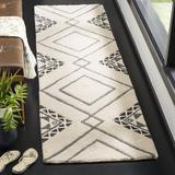 Union Rustic Powell Ivory/Area Rug Polyester/Wool in Gray, Size 27.0 W x 1.0 D in   Wayfair BBF12E62418943D2BA6E20F6266D3333