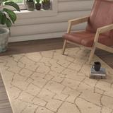 Union Rustic Bennett Power Loom Ivory Rug in Brown/White, Size 72.0 H x 48.0 W x 0.25 D in | Wayfair UNRS5575 45286152