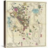 Global Gallery City of Seattle & Environs, 1890 by O.P. Anderson Graphic Art on Wrapped Canvas Canvas & Fabric in Brown | Wayfair GCS-294911-22-146