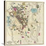 Global Gallery City of Seattle & Environs, 1890 by O.P. Anderson Graphic Art on Wrapped Canvas Canvas & Fabric in Brown | Wayfair GCS-294911-30-146