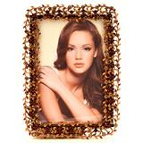 Winston Porter Antique-inspired Glided Metal Single Picture Frame Metal in Brown, Size 7.0 H x 5.0 W x 0.5 D in | Wayfair WNPR2087 39198995