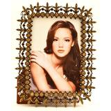 World Menagerie Beaded Metal Single Picture Frame in Metal in Brown, Size 8.0 H x 6.0 W x 0.5 D in   Wayfair WLDM6754 39198794