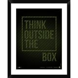 Naxart Think Outside of the Box Poster - Picture Frame Textual Art Print on Paper Paper in Black/Brown/Green, Size 30.0 H x 24.0 W x 1.5 D in