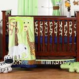 Zoomie Kids Fernwood 3 Piece Crib Bedding Set Cotton/Synthetic Fabric in Blue/Brown/Green   Wayfair ZMIE5698 42972782