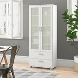 "Zipcode Design™ Nikhil China Cabinet, Wood in White, Size 70""H X 28""W X 14""D   Wayfair ZPCD5215 42725769"