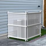 Enclo 4 ft. H x 3 ft. W Wilmington Privacy Screen Vinyl in White, Size 48.0 H x 36.0 W x 36.0 D in | Wayfair ZP19008