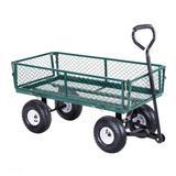 Costway Heavy Duty Garden Utility Cart Wagon Wheelbarrow