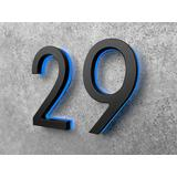 """Black Lighted 5"""" house numbers"""