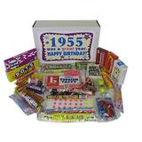 62nd Birthday Gift Box of Nostalgic Retro Candy for a 62 Year Old Man or Woman Born in 1955 - Decade 50s Jr