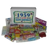 1959 Birthday Gift Box of Nostalgic Retro Candy for a 59 Year Old Man or Woman Born in 1959 - Jr