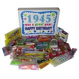 Woodstock Candy 73rd Birthday Gift Box of Retro Nostalgic Candy from Childhood for a 73 Year Old Man or Woman Born in 1945