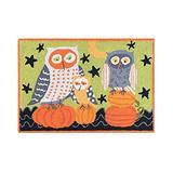 C&F Home Hootenanny Owls Pumpkin Green Orange and Black Wool Halloween Handcrafted Premium Hooked Indoor Area Rug 2'x3' Green